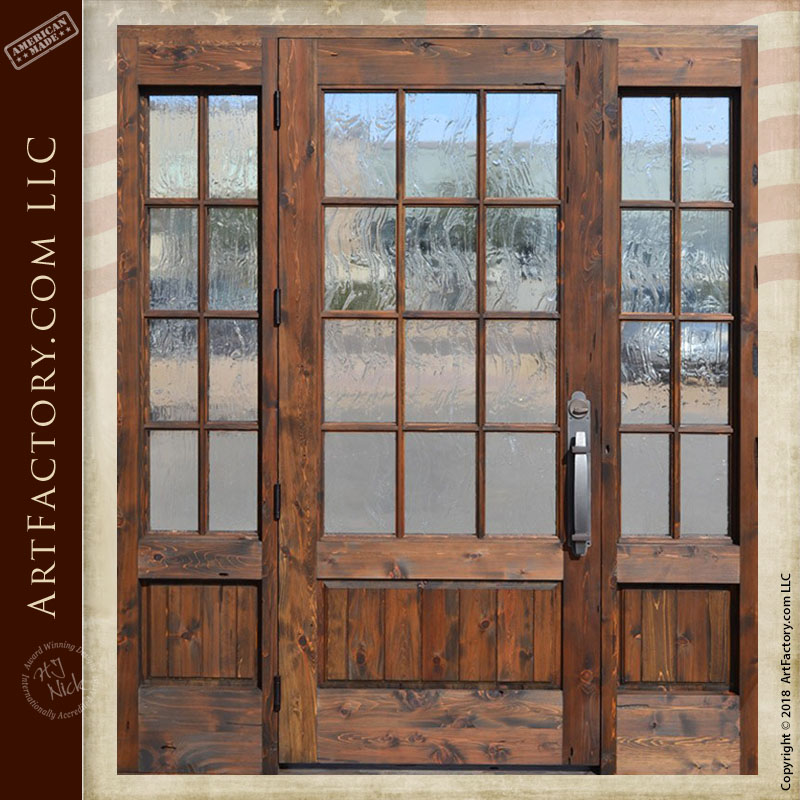 custom French paned door