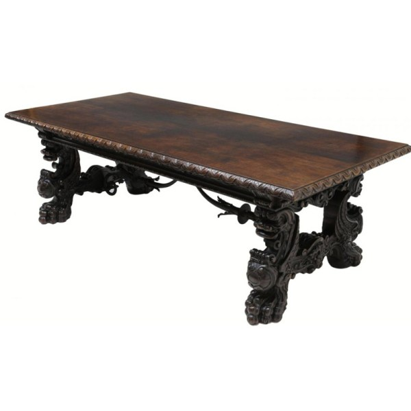 Walnut Dining Table - Master Hand Carved Table