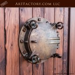 Nautical Exterior Custom Door W/ USS Mispillion Portal