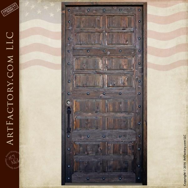 wood panel fortress door