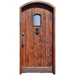 semi arched wood door