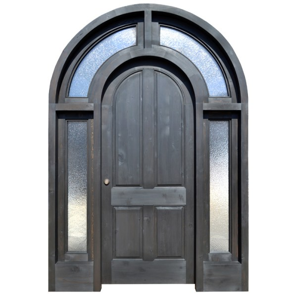 arched wood glass entrance door
