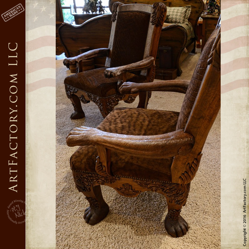 Image of: Safari Style Furniture Inside Previous Hand Carved Lion Safari Chair An Hj Nick Original Fine Art Design