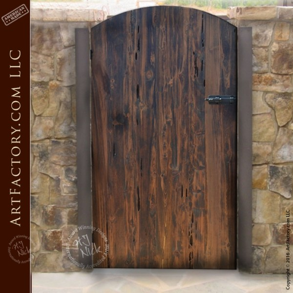 Wood Courtyard Garden Gate