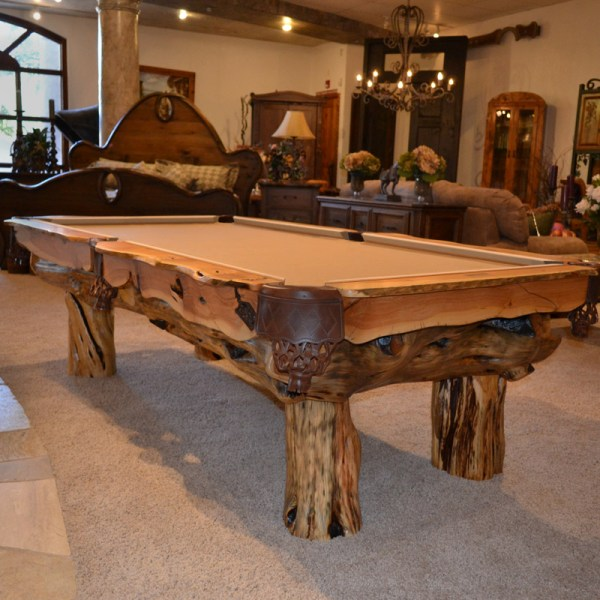 Billiards Table Custom Log Home Design