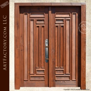 intersecting panel craftsman door