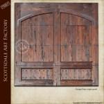 designer wood garage door