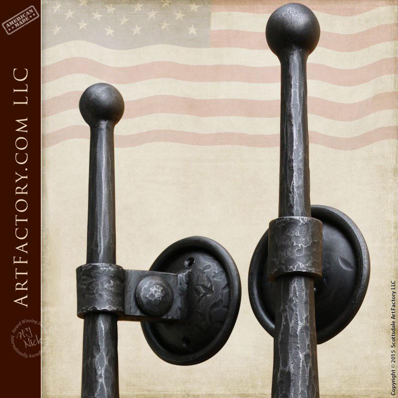 medieval style castle door handles