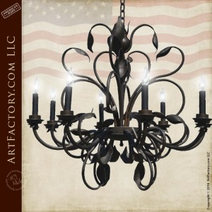 custom iron vine chandelier
