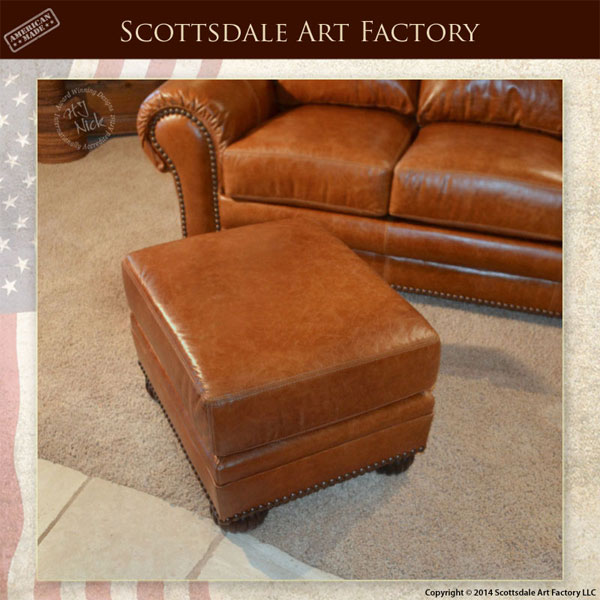 Traditional Custom Leather Sofa And Chair Set Custom