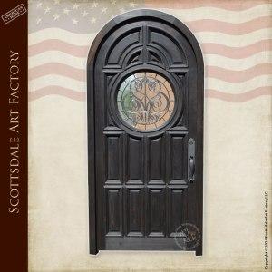 custom arched panel door