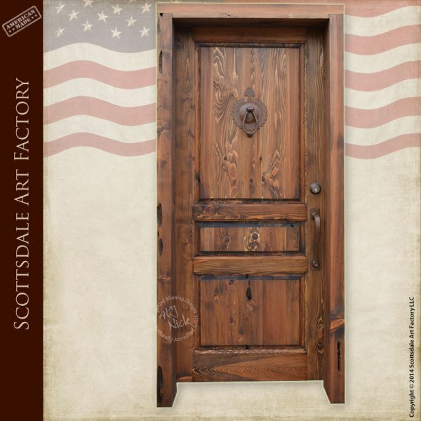 Custom Wood Entry Door Traditional Style Exterior Doors