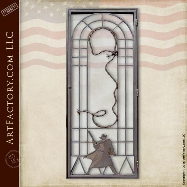 Gunslinger Design Door Grill