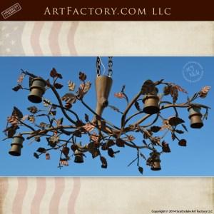 custom tree branch chandelier