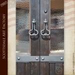 custom wood double doors
