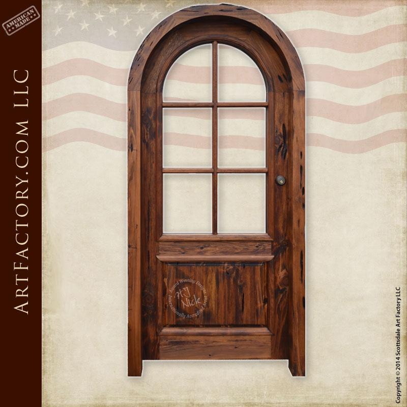 rustic French panel door