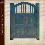 Wood Gate Designs Arch Top Wood Spindle Gate