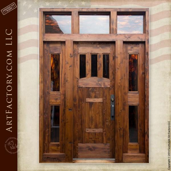 handmade craftsman front door