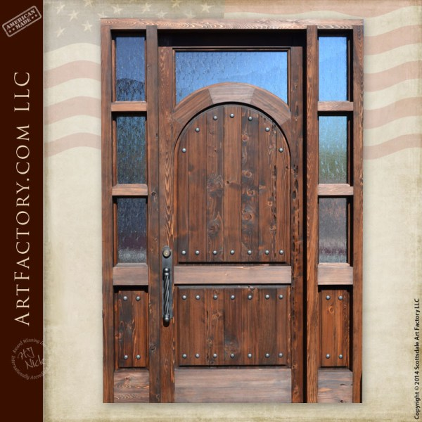 rustic arched grand entrance door
