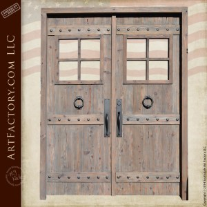 custom western style double doors