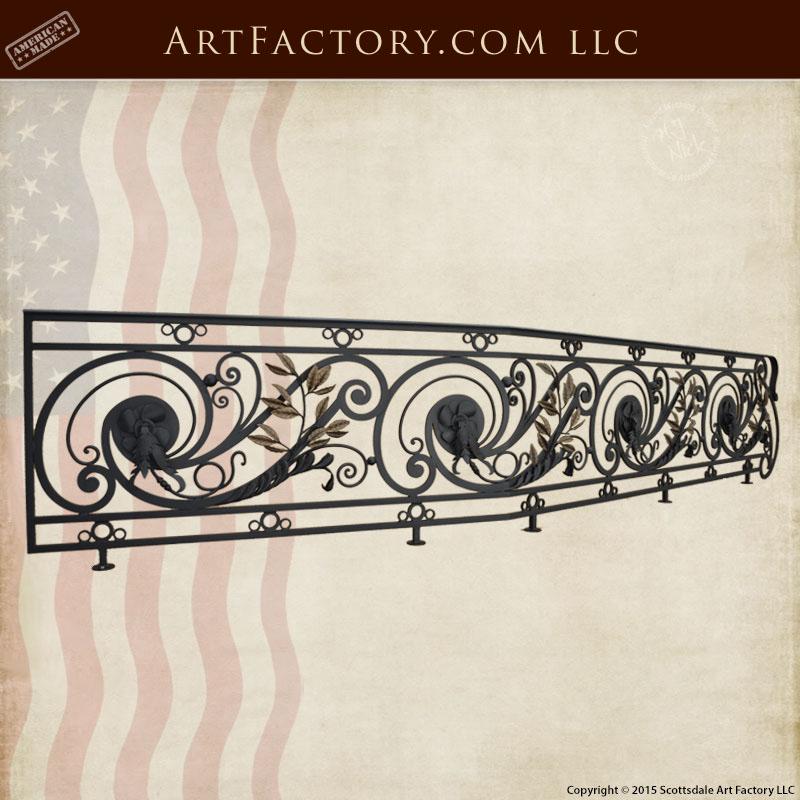 custom fine art stair railing