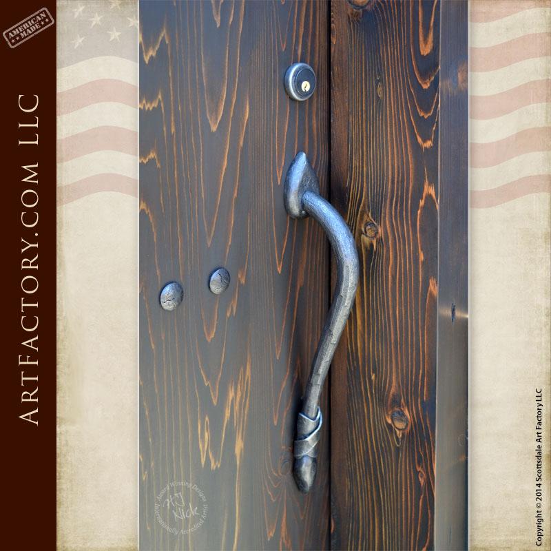 custom wrought iron door pull
