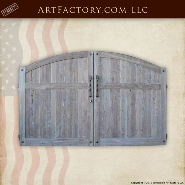 custom wood estate gate