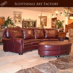 leather sofa ottoman set