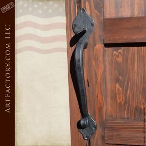 custom lever latch door handle