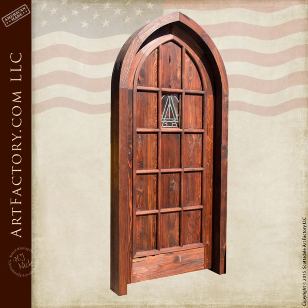 custom wooden cathedral door