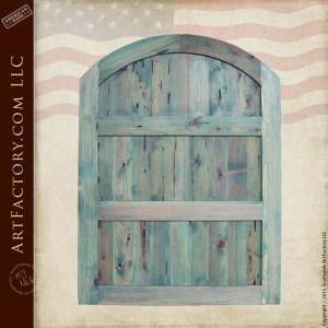 custom wooden entrance gate