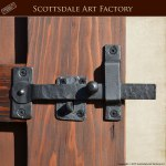 Gate Latch - Hand Forged Wrought Iron