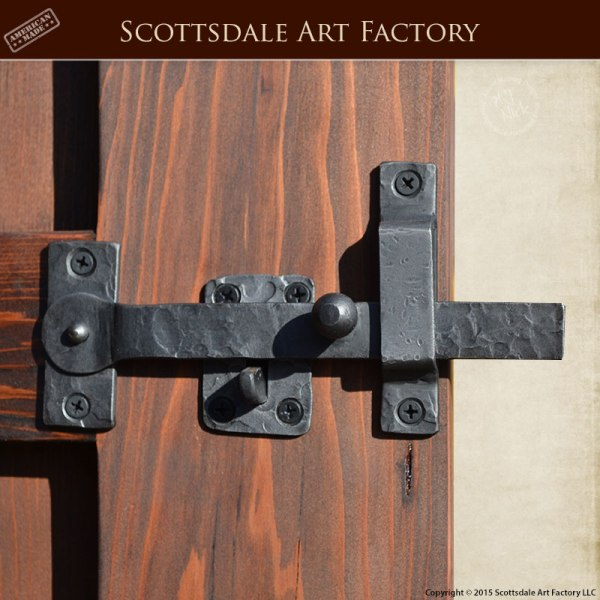 Gate Latch Hand Forged Wrought Iron Set