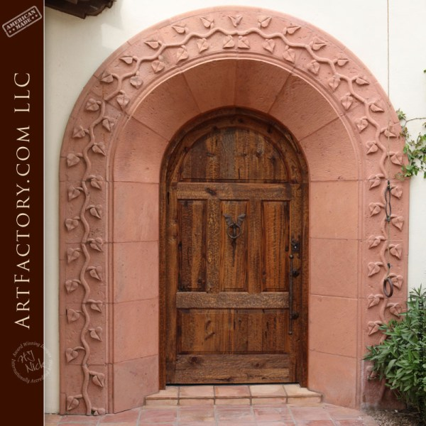 medieval style arched door
