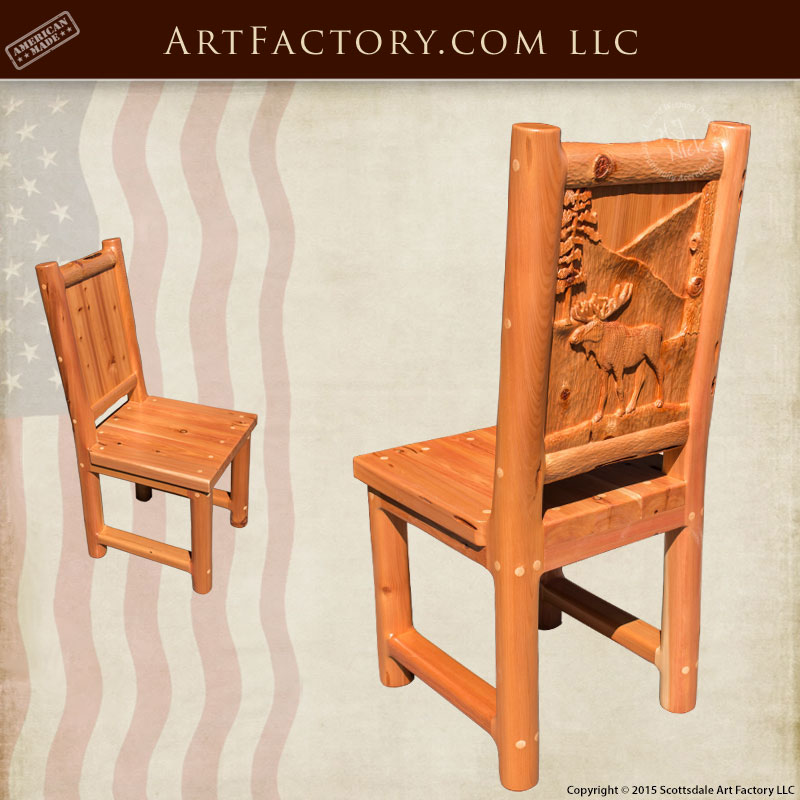 Moose Hand Carved Dining Chairs Moose Hand Carved Dining Chairs