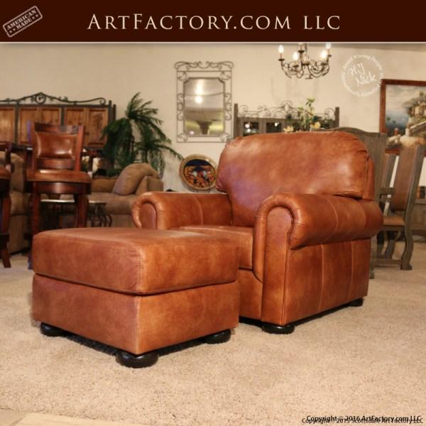 Custom Full Grain Leather Furniture