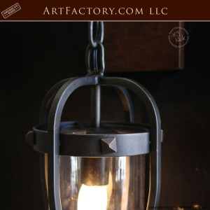 hand forged iron coach lantern