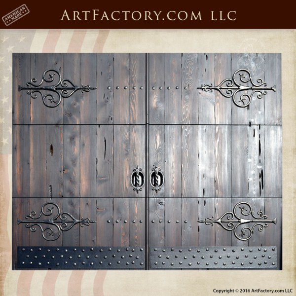 Roll Up Exterior Garage Doors Fine Art Hand Forged Wrought Iron