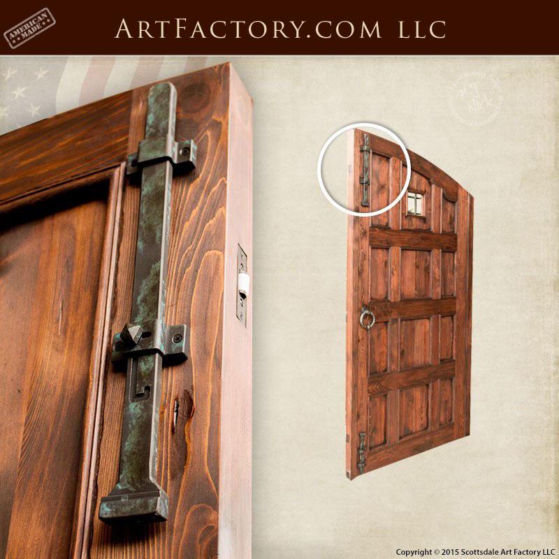 Custom Castle Entrance Doors Iron Speakeasy Grill Amp Strap