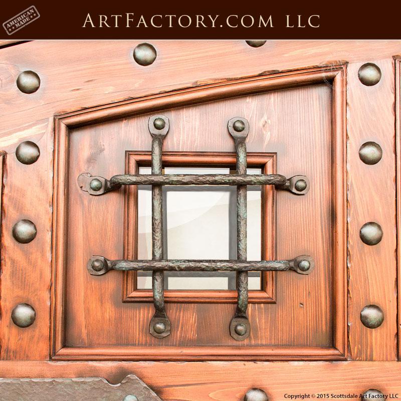 Custom Security Door Grill: Fine Art Quality Hand Forged Hardware U2013 GR3333