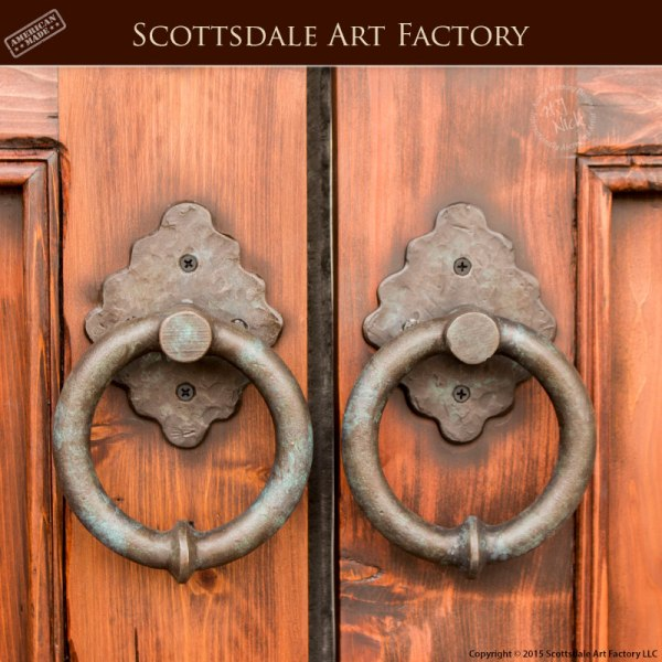 Door Ring Pulls Hand Forged Wrought Iron