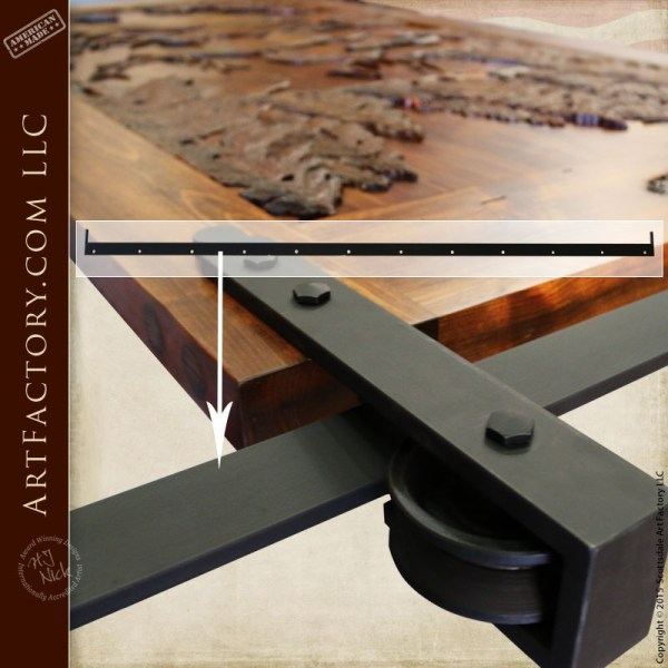 Hand Carved Barn Door: Fine Art Solid Wood Sliding Entrance Doors