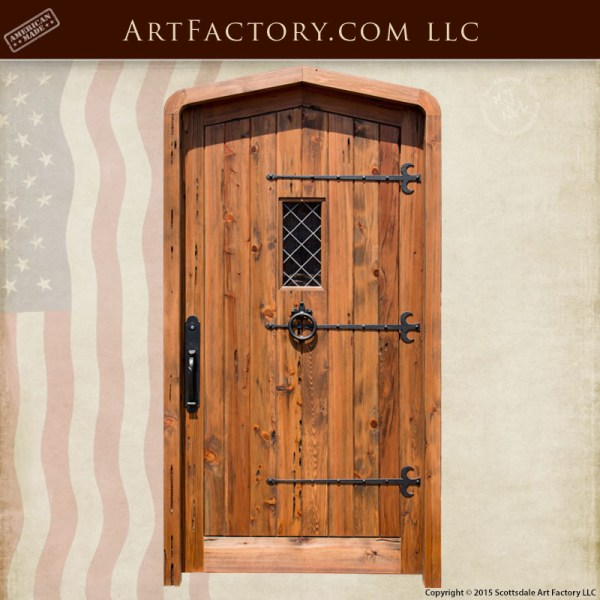 cathedral arched wood door
