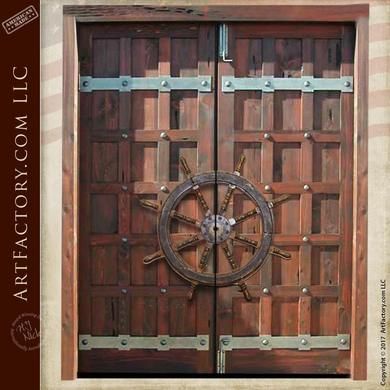 Door Pulls from Split Ships Wheel