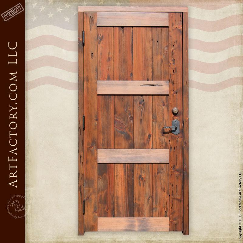 custom vertical plank door