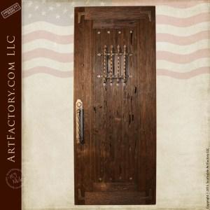raised grain speakeasy door