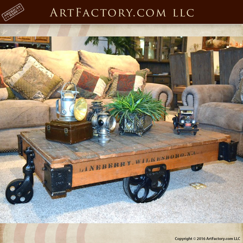Antique Coffee Table Cart