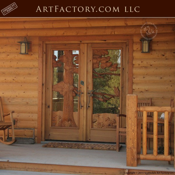 log cabin entrance doors