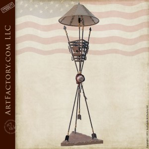 buffalo hunt theme floor lamp