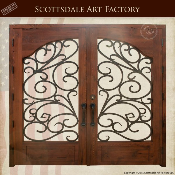 Wood And Wrought Iron Entrance Gate